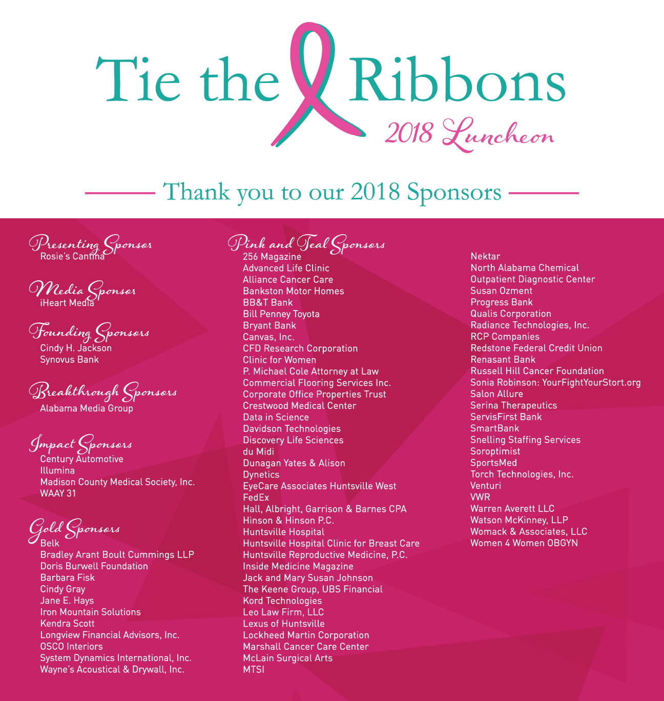 Tie the Ribbons Event – HudsonAlpha Foundation